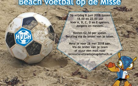 Beachvoetbal op de misse