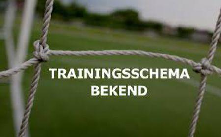Trainingsschema 2019-2020