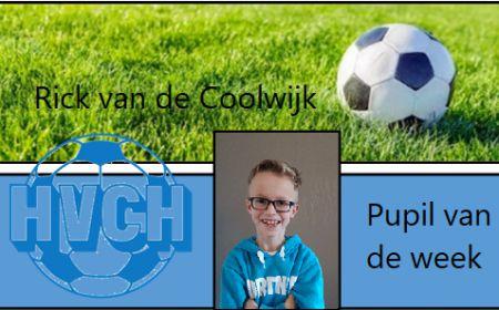 Pupil van de week Rick van de Coolwijk